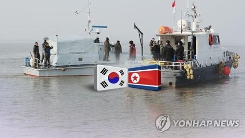韩朝界河入海口淤积沙洲有待疏浚