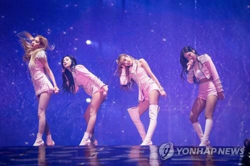 韩国女团BLACKPINK(韩联社/YG娱乐供图)