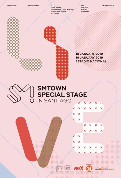 SM娱乐智利演唱会海报(SM娱乐供图)