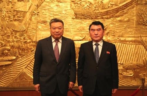 中国驻朝大使在平壤会见朝鲜文化省副相
