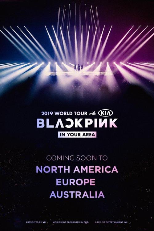 资料图片:女团BLACKPINK演唱会行程追加场次海报(YG娱乐供图)