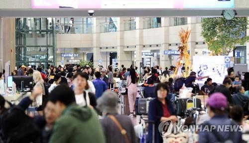 韩国去年接待外国游客同比增15%