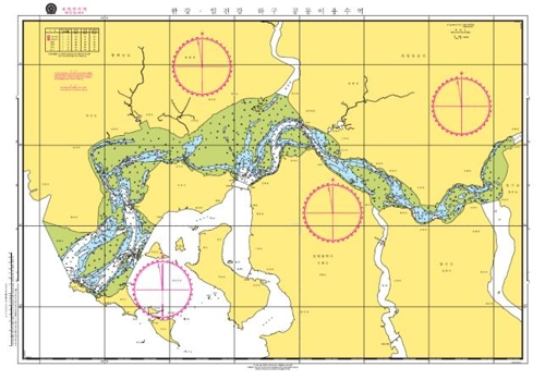 韩朝共用水域海图(海洋水产部供图)