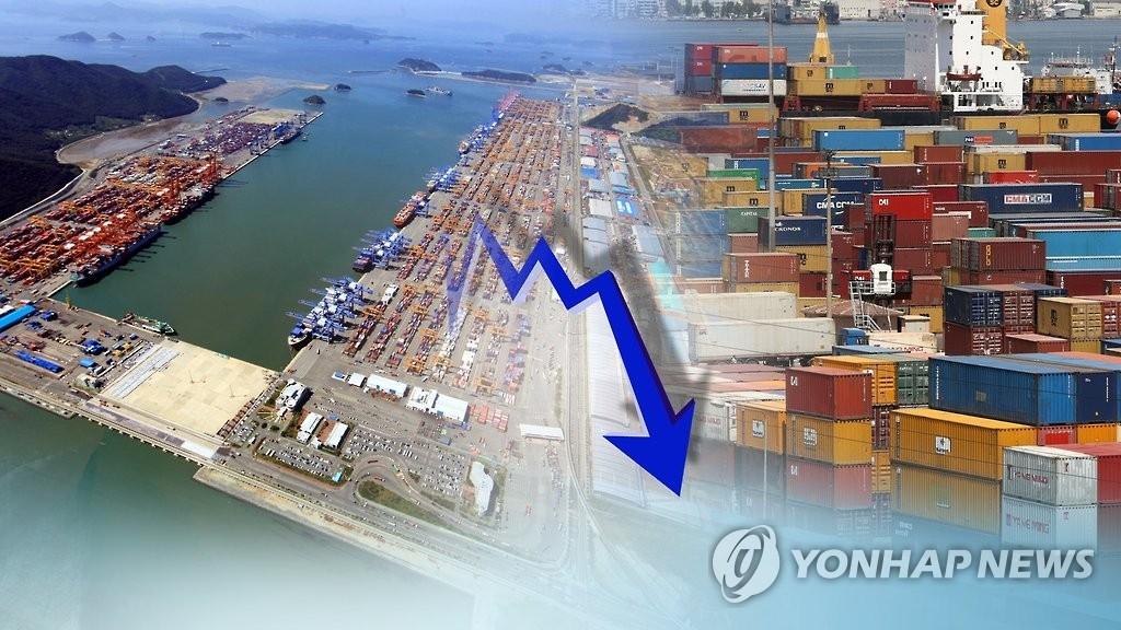 韩国出口连跌两个月影响宏观经济稳定