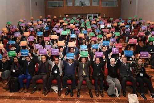 2019平昌和平论坛圆满落幕。(韩联社/平昌和平论坛秘书处供图)