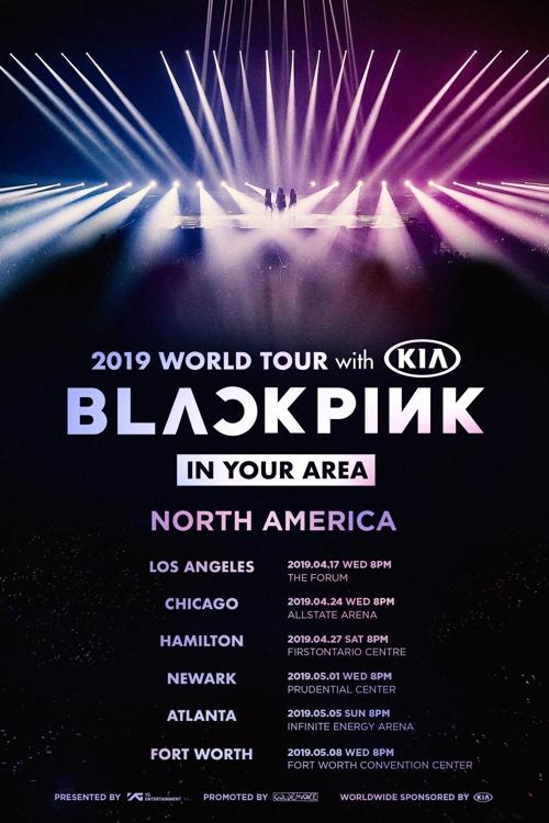 BLACKPINK北美巡演海报(YG娱乐供图)
