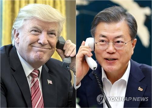 韩美领导人今晚通电话就金特会进行沟通