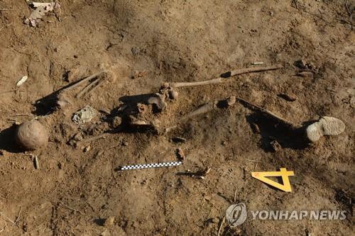 韩军鉴定出10具中国人民志愿军遗骸