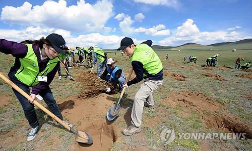 韩京畿道将携手韩中团体在内蒙古植树造林