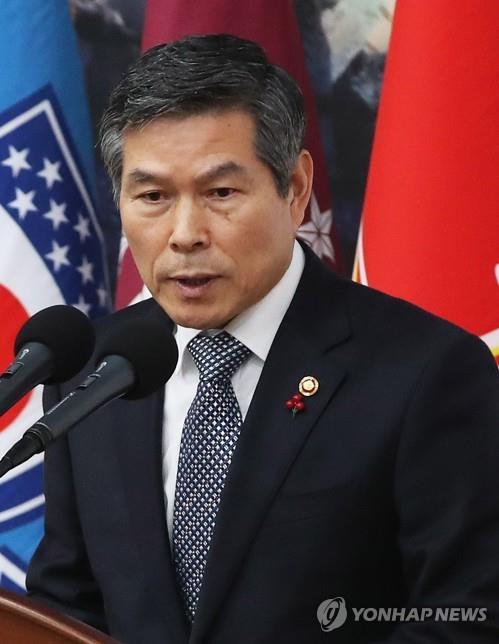 韩防长郑景斗视察韩美新版联演现场