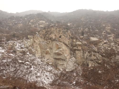 """曾作为""""老鹰计划""""训练场的终南山峭壁(韩联社)"""