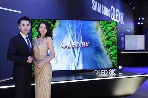 三星LG在沪竞相推介电视新品