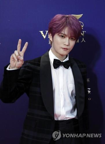 第13届亚洲电影大奖于17日晚在香港举行,韩国歌手金在中获AFA新世代奖。(韩联社/美联社)