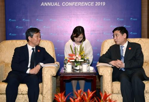 韩中产业部长在博鳌对话