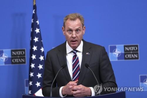 资料图片:美国代理国防部长帕特里克·沙纳汉(韩联社/美联社)