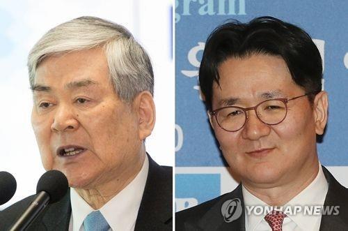 资料图片:赵亮镐(左)与赵源泰