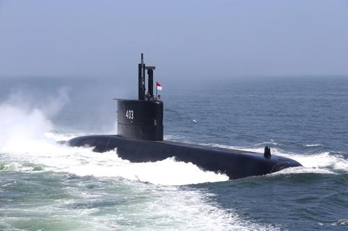 """资料图片:""""娜迦帕萨""""号潜艇(韩联社/防卫厅供图)"""