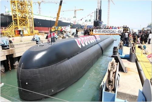 """资料图片:""""阿达德达利""""号潜艇(韩联社/防卫厅供图)"""