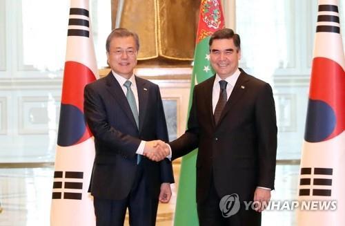 韩国土库曼斯坦首脑商定推广气田共建范例