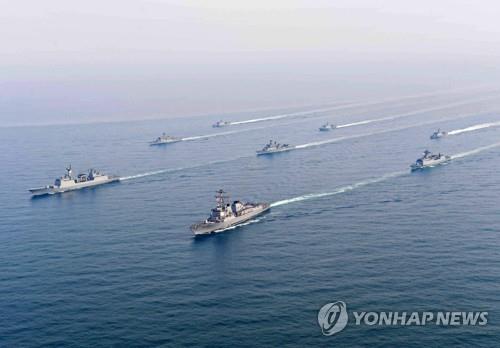 """资料图片:""""京畿""""号护卫舰(韩联社)"""