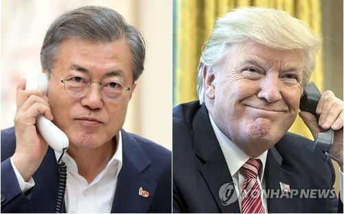 韩美总统今晚将就朝鲜发射飞行物通电话