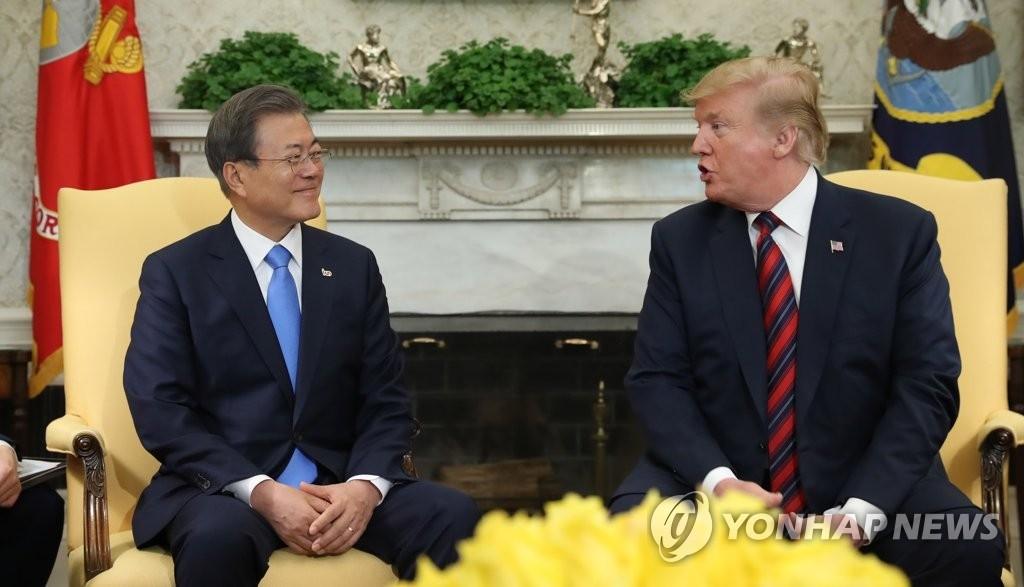 简讯:韩美首脑通电话讨论尽快重启无核化谈判