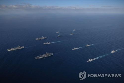韩日参加美国主导海上训练重启军事交流