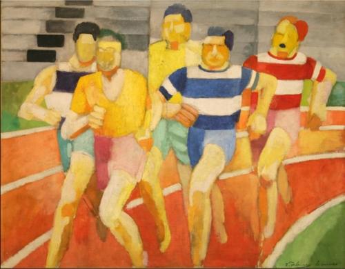 罗伯特·德劳内《跑步者》(法国特鲁瓦现代艺术馆供图)