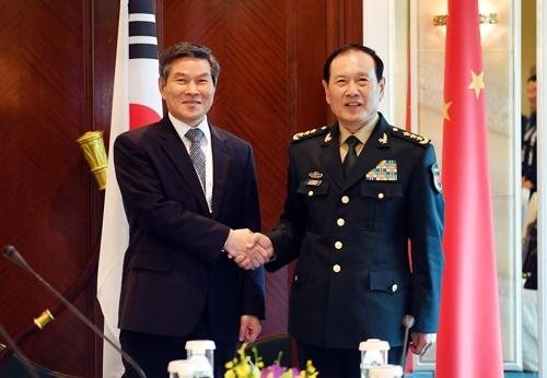 韩中防长商定加强战略沟通