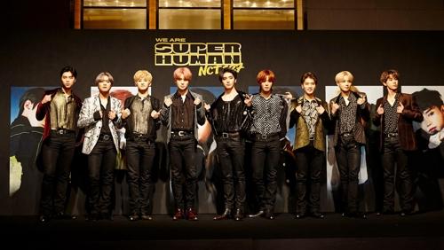 资料图片:5月24日,在首尔康拉德酒店,NCT127举行新辑抢听会。图片严禁转售和备份。(Big Hit娱乐供图)