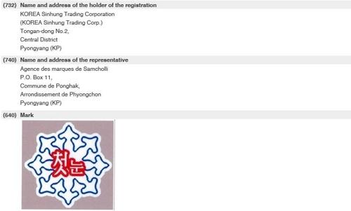 朝鲜贸易商向世界知识产权组织申请注册商标