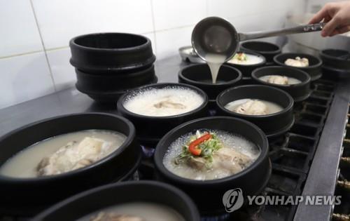 韩国参鸡汤一碗上百元渐成外餐奢侈品