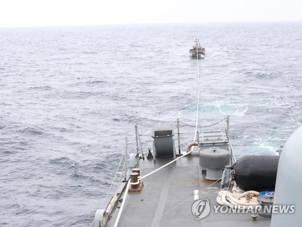 韩国调查昨漂流南下朝鲜渔船