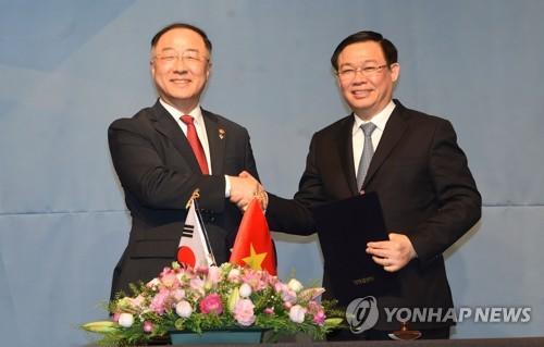 韩越经济副总理会晤共商合作事宜