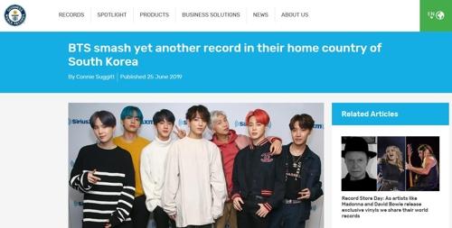 防弹少年团新辑创韩国唱片销量最高纪录
