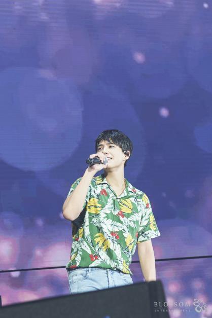 资料图片:朴宝剑亚洲粉丝会现场照 Blossom娱乐供图(图片严禁转载复制)