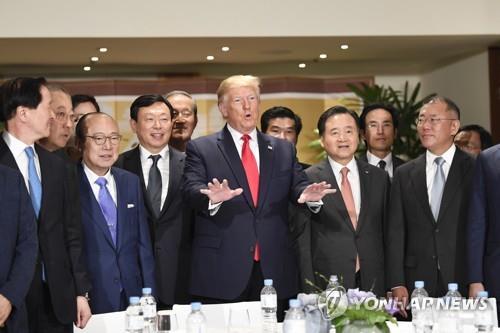 详讯:特朗普会见韩企掌门呼吁继续对美投资