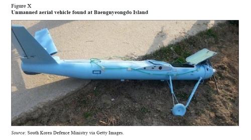 朝鲜无人机零部件使用日本产品。 韩联社/联合国朝鲜制裁委员会专家小组2015年报告(图片严禁转载复制)