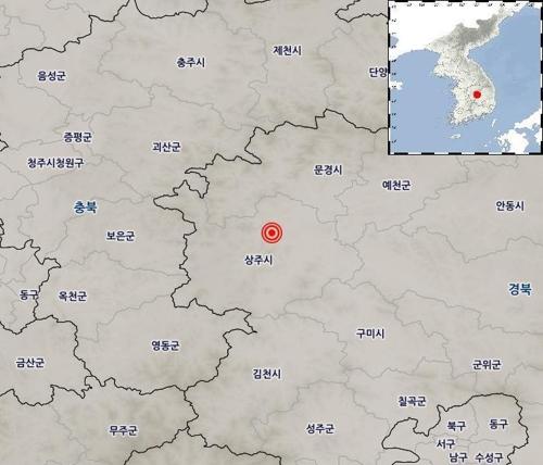 韩国庆尚北道尚州市发生3.9级地震