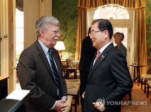 韩青瓦台:美国安顾问博尔顿23日访韩