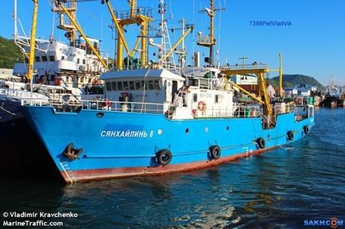 """资料图片:""""Xiang Hai Lin 8""""号渔船 MarineTraffic官网截图(图片严禁转载复制)"""