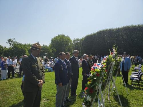当地时间7月27日,《停战协定》签署66周年纪念活动在华盛顿韩国战争参战老兵纪念公园举行。 韩联社