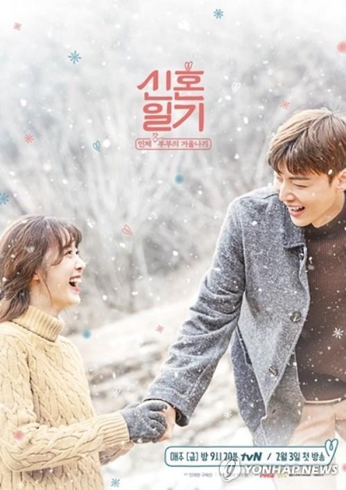 具惠善与安宰贤参与拍摄的综艺《新婚日记》海报