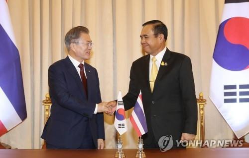 详讯:文在寅会见泰国总理巴育