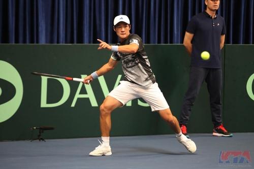 戴维斯杯网球赛:韩国战胜中国晋级世界组资格赛