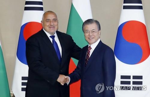 文在寅会见保加利亚总理鲍里索夫