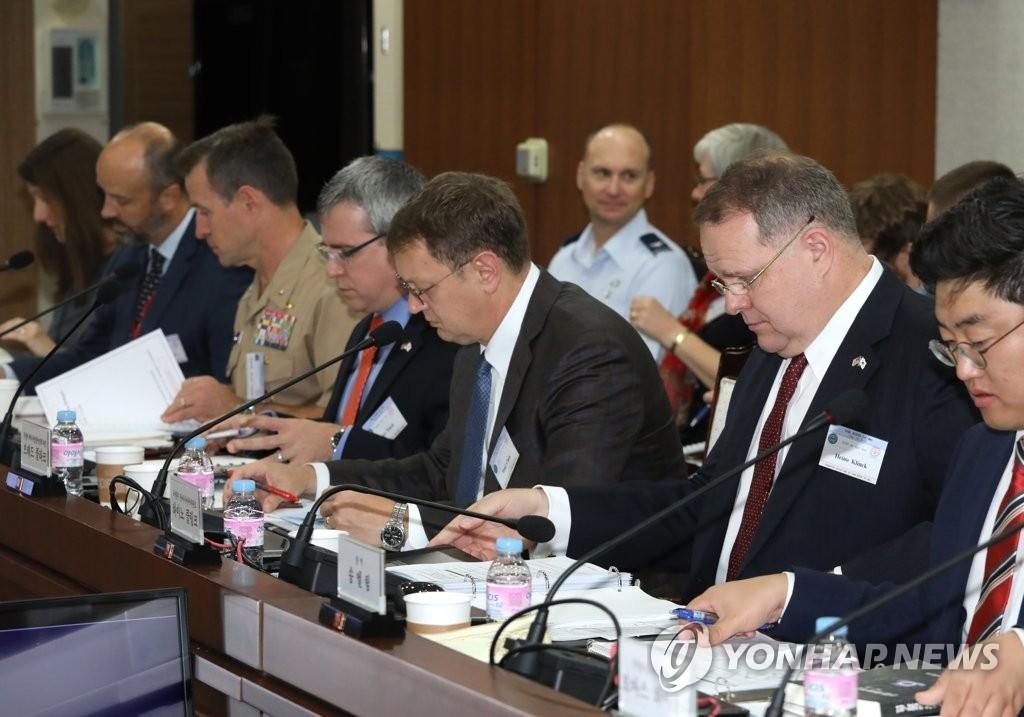 韩美第16次联合国防协商机制会议闭幕