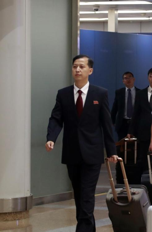 朝鲜外务省美国研究所研究员郑南赫(音) 韩联社