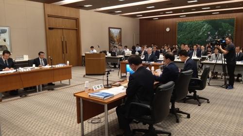 10月4日,在韩国驻日本大使馆,国会外交统一委员会进行国政监查。 韩联社