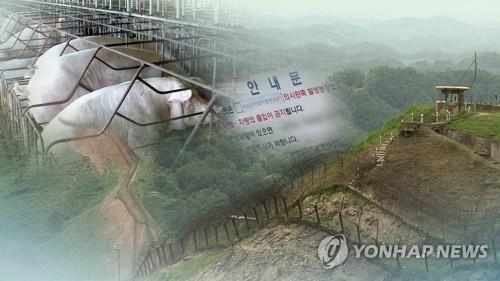 韩军在韩朝非军事区开展空中猪瘟防疫工作